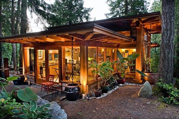 Làm nhà bằng gỗ