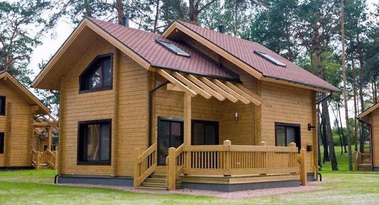 Mẫu nhà gỗ thông cao cấp
