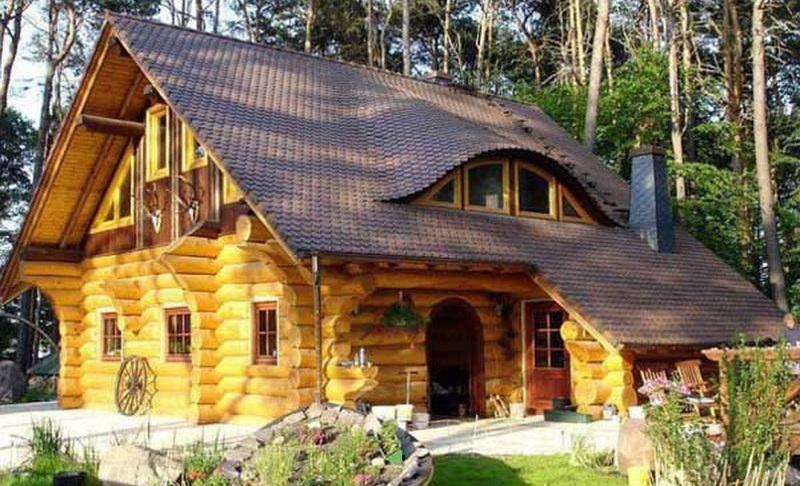 Nhà cấp 4 bằng gỗ đẹp