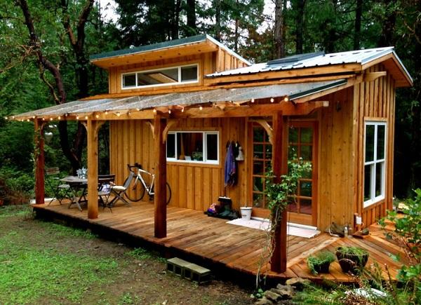 Nhà gỗ hiện đại có thiết kế đơn giản