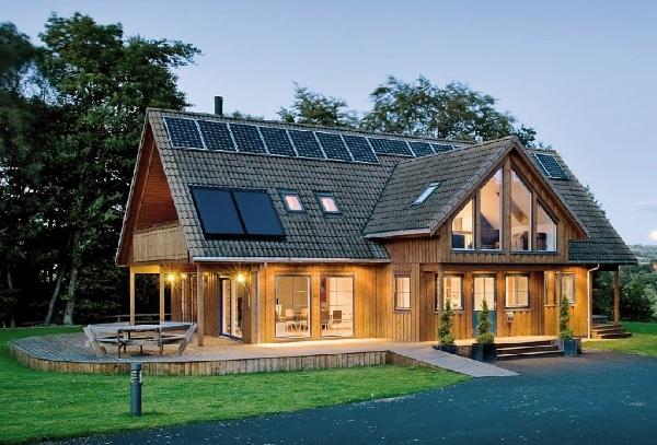 Nhà gỗ hiện đại tối giản theo phong cách Bắc Âu
