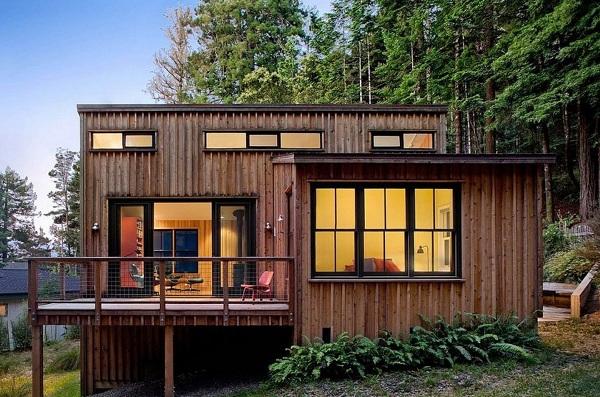 Nhà làm bằng gỗ lim đẹp