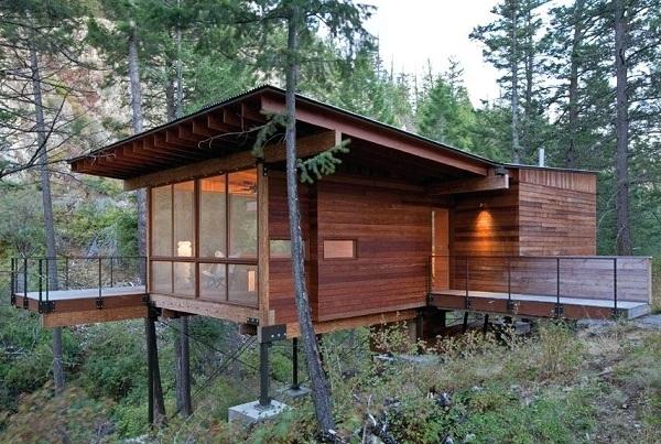 Nhà sàn gỗ hiện đại