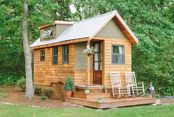 Thiết kế nhà gỗ diện tích nhỏ