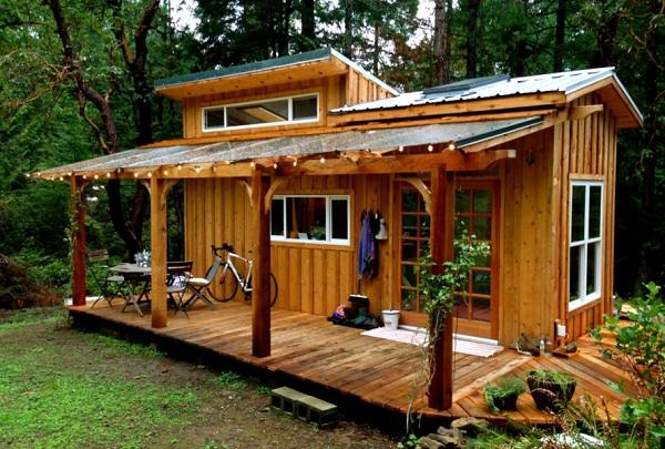 Thiết kế nhà gỗ nhỏ
