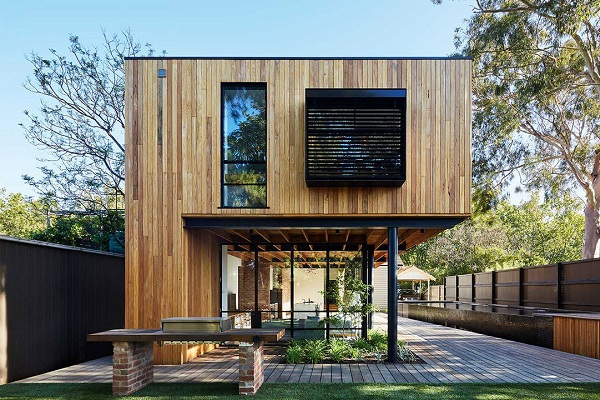 Thiết kế và làm thi công nhà gỗ hiện đại