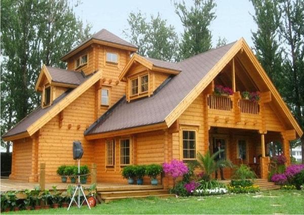 Xây nhà gỗ mít