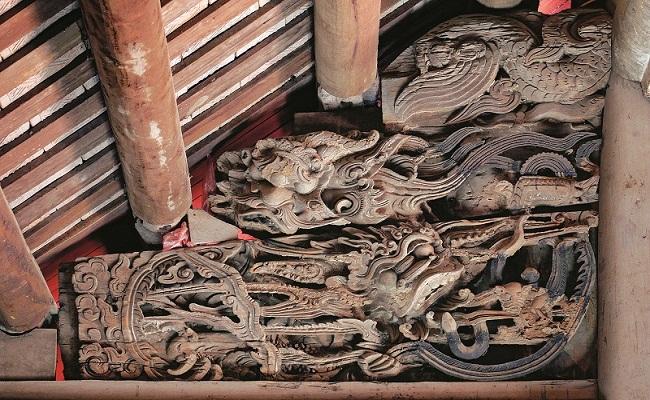 Hoa văn rồng phượng nhà gỗ cổ