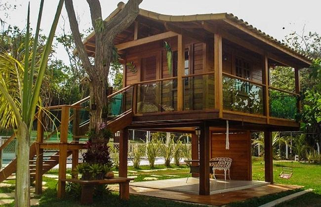 Mẫu nhà bằng gỗ mít