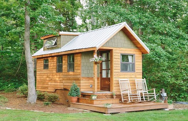 Mẫu nhà bằng gỗ xoan