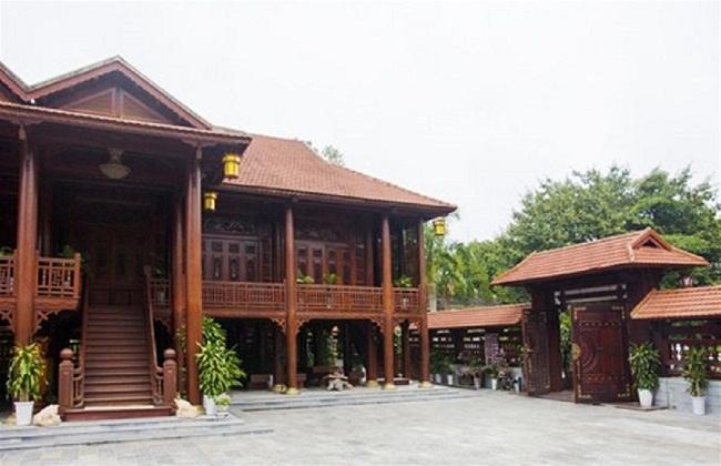 Mẫu nhà biệt thự gỗ lim