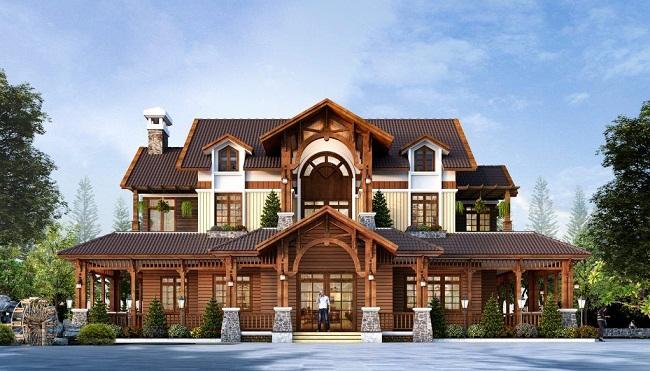 Mẫu nhà biệt thự gỗ