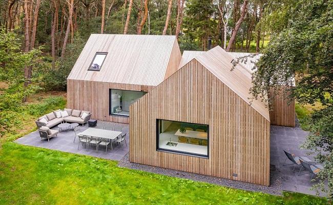Mẫu nhà cấp 4 hiện đại bằng gỗ