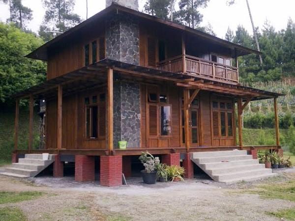 Mẫu nhà gỗ 2 tầng