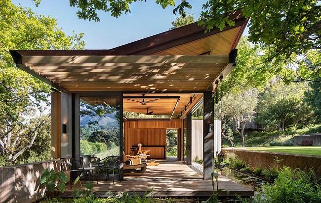 Mẫu nhà gỗ đẹp thiết kế mở hiện đại