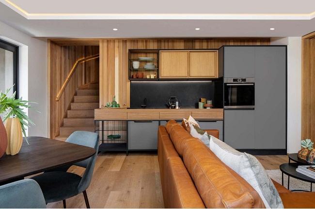 Mẫu nhà gỗ đẹp thiết kế mở