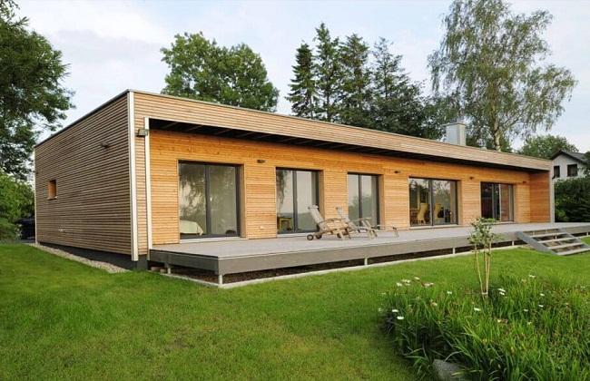 Mẫu nhà gỗ mái bằng