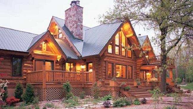 Mẫu nhà gỗ tròn