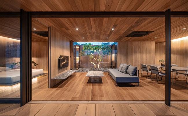 Nhà cấp 4 hiện đại bằng gỗ