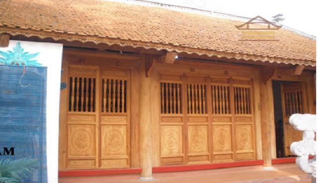 Nhà gỗ cổ thờ họ đẹp