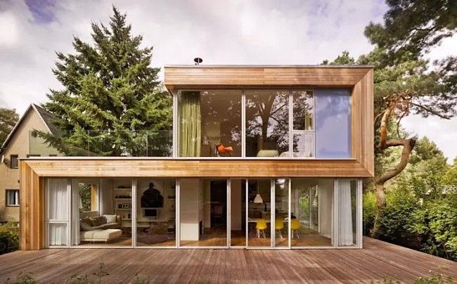 Nhà gỗ lắp ghép hiện đại