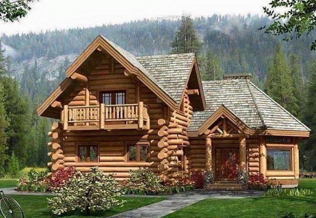 Nhà gỗ vườn đẹp