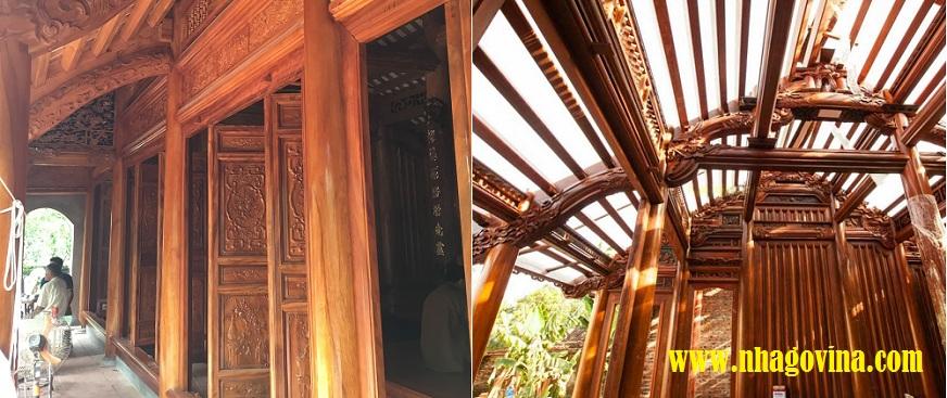 Nhà gỗ xoan hiện đại
